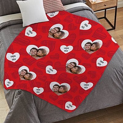 Love You All Around Photo Plush Blanket