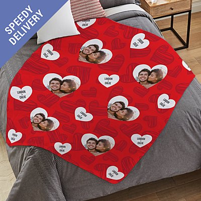 Love You All Around Photo Plush Blanket