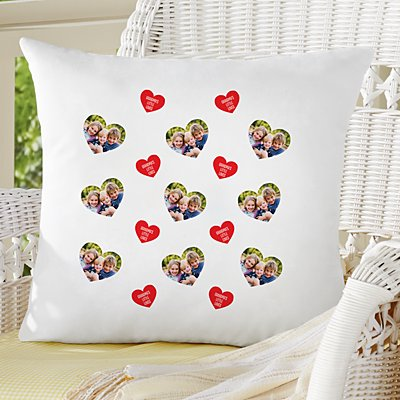 Love You All Around Photo Throw Pillow