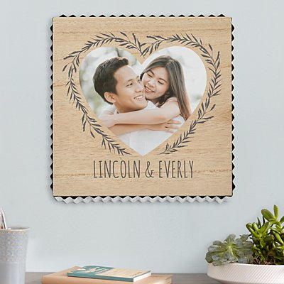 Our Love Is True Photo Metal Edge Wood Wall Art