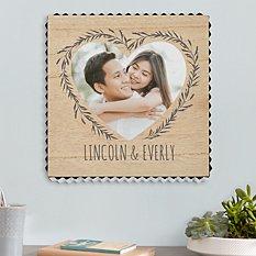 Our Love Is True Photo Metal Edge Wood Wall Art