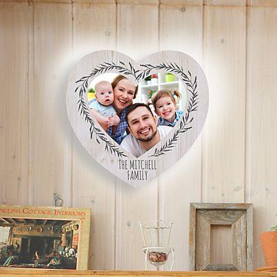 Our Love Is True Photo Heart Nightlight