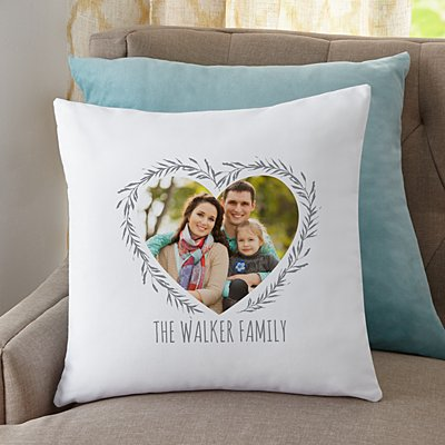 Our Love Is True Photo Throw Pillow