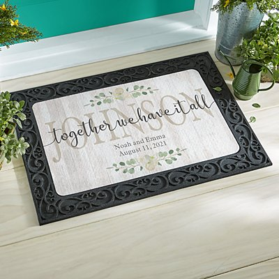 Together We Have It All  Doormat