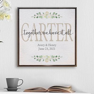 Together We Have It All Shimmer Wood Wall Art