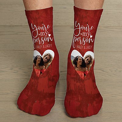 You're My Person Photo Socks