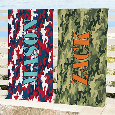 Camo In The Sun Beach Towel