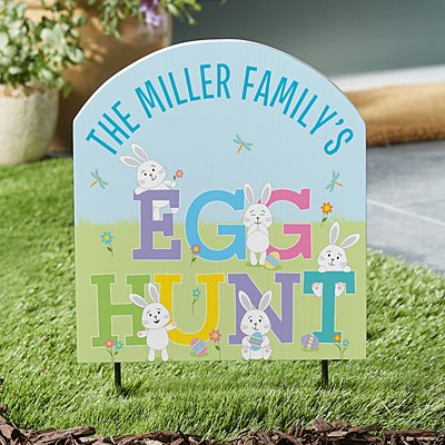 Easter Egg Hunt Outdoor Sign