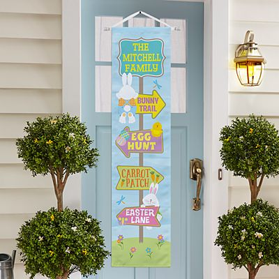 Follow The Bunnies Door Banner