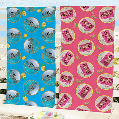 Funny Faces Photo Beach Towel