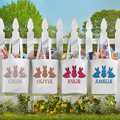Glitter Bunny Buddies Tote Bag