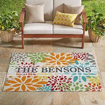 Large Floral Oversized Outdoor Mat