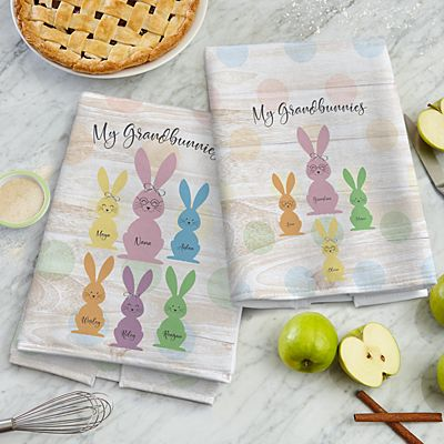 Love My Grandbunnies Kitchen Towel