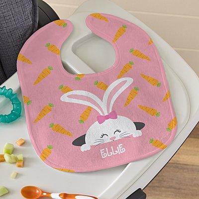 Peek-a-Boo Bunny Bib