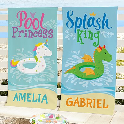 Poolside Royalty Beach Towel