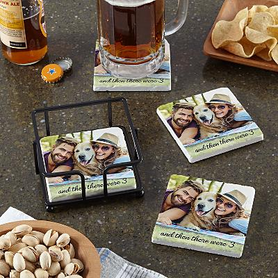 Picture Perfect Photo Marble Coaster Set