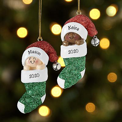 Baby in Stocking Bauble