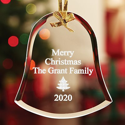 Personalized Etched Glass Ornaments