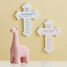 Bless This Child Ceramic Cross