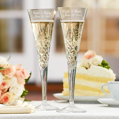 Galway European Crystal® Romance Toasting Flutes