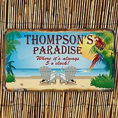 Paradise Metal Sign
