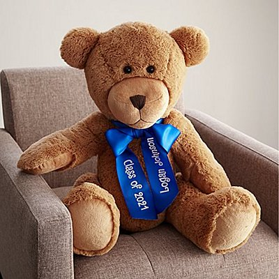 "27"" Plush Teddy Bear - Blue Ribbon"