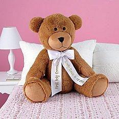 """27"""" Plush Teddy Bear - White Ribbon"""