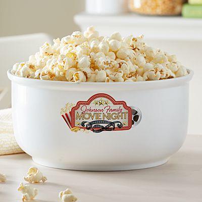 Family Movie Night Popcorn Bowl