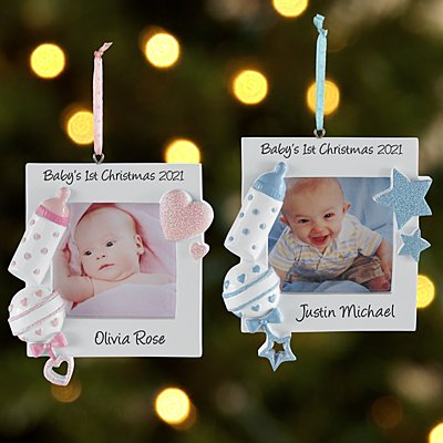 Baby's 1st Christmas Picture Ornament