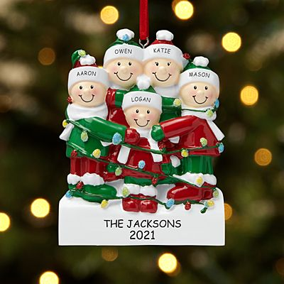 Tangled in Lights Family Ornament