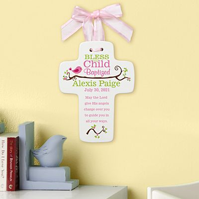 Bless this Child Baptism Cross