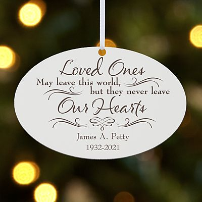 Never Leave Our Hearts Oval Ornament