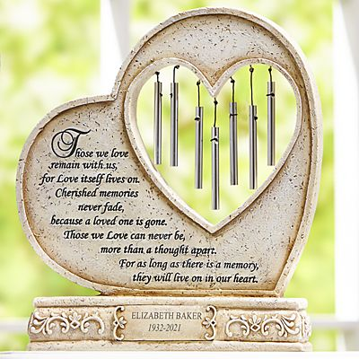 They'll Live On In Our Hearts Memorial Wind Chime