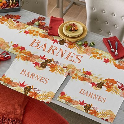 Fabulous Fall Table Runner & Placemats