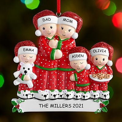 Pajama Family Ornament