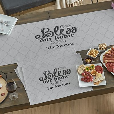 Bless Our Home Table Runner & Placemats