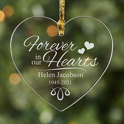 Forever in our Hearts Acrylic Ornament
