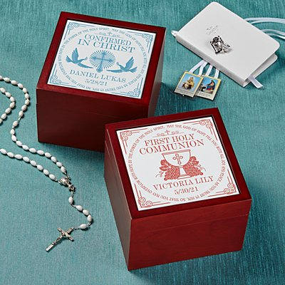 Communion Memories Tile Keepsake Box
