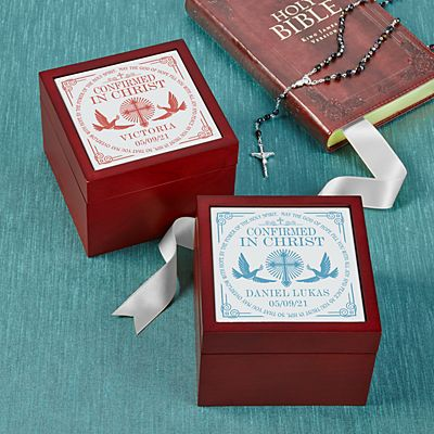 Confirmation Memories Tile Keepsake Box