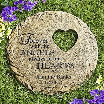 In Our Hearts Memorial Garden Stone