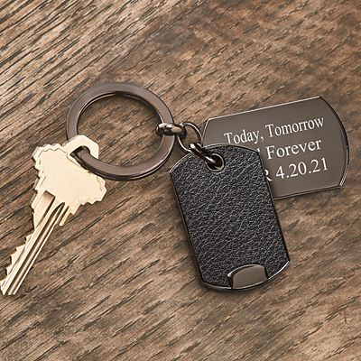 Metal Tag Key Chain