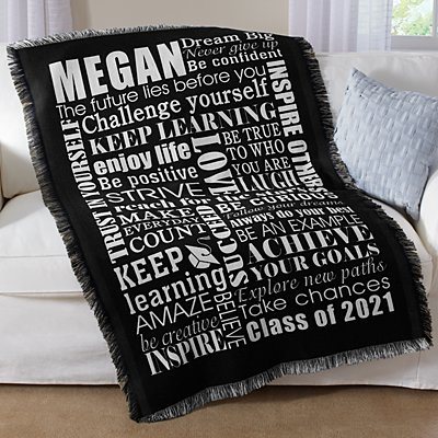 Dream Big Graduation Throw