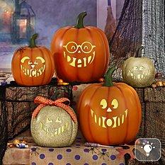 Light-Up Design Your Own Pumpkin Family