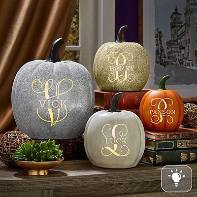 Light-Up Name & Initial Pumpkin