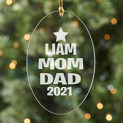 Family Name Tree Acrylic Ornament