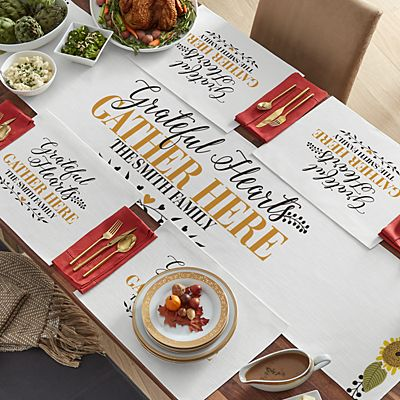 Grateful Hearts Table Runner & Placemats