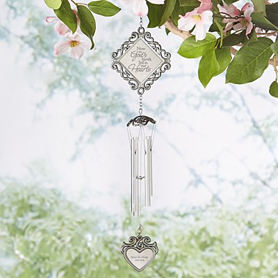 In God's Hands Memorial Wind Chime
