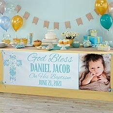 Baptism Celebration Photo Banner