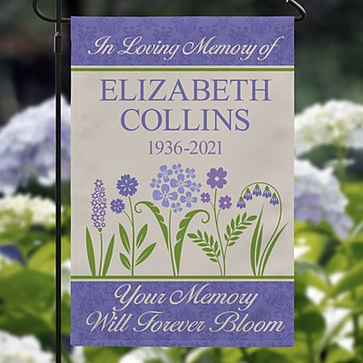 Memories Bloomed Sympathy Garden Flag