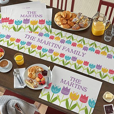 Spring Tulip Table Runner & Placemats